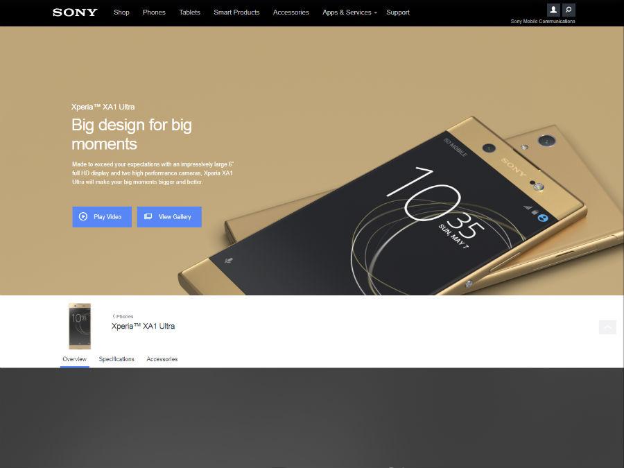 Xperia XA1 Ultra 公式サイト